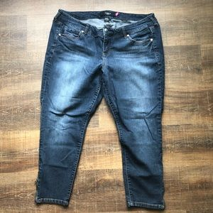 Torrid ankle-zip skinny jeans